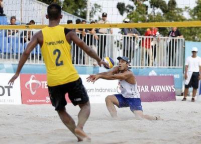دومین پیروزی والیبالیست های ساحلی ب ایران